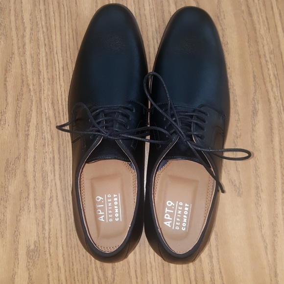 fd77bd1fa Apt. 9 Shoes | Apt9 Mens Wallburg Black Dress Shoe Size 10 | Poshmark